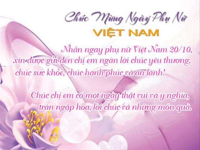Loi Chuc Mung Ngay Phu Nu Viet Nam