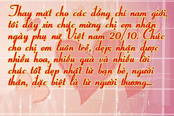 Loi Chuc Phu Nu Ngay 20 10 Hai Huoc