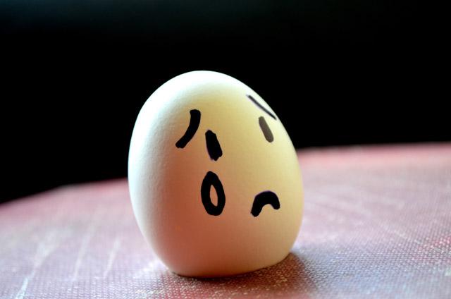 Hình ảnh quả trứng đang khóc