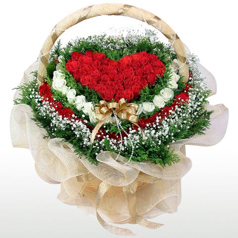 lang hoa hong hinh trai tim