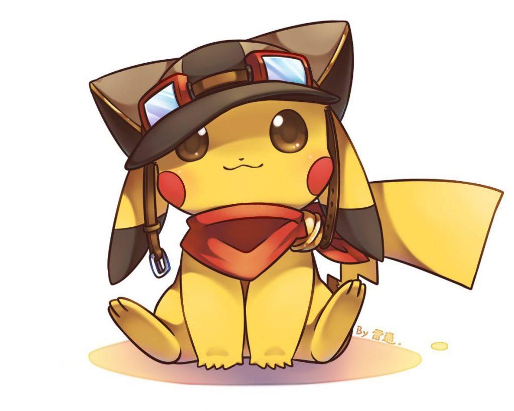 Ảnh Pikachu đội mũ dễ thương