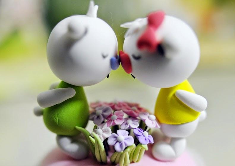 Hình nền tình yêu 2 búp bê dễ thương