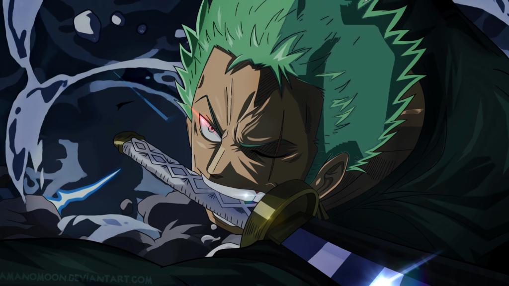 Roronoa Zoro One Piece sword Amanomoon hinh nen
