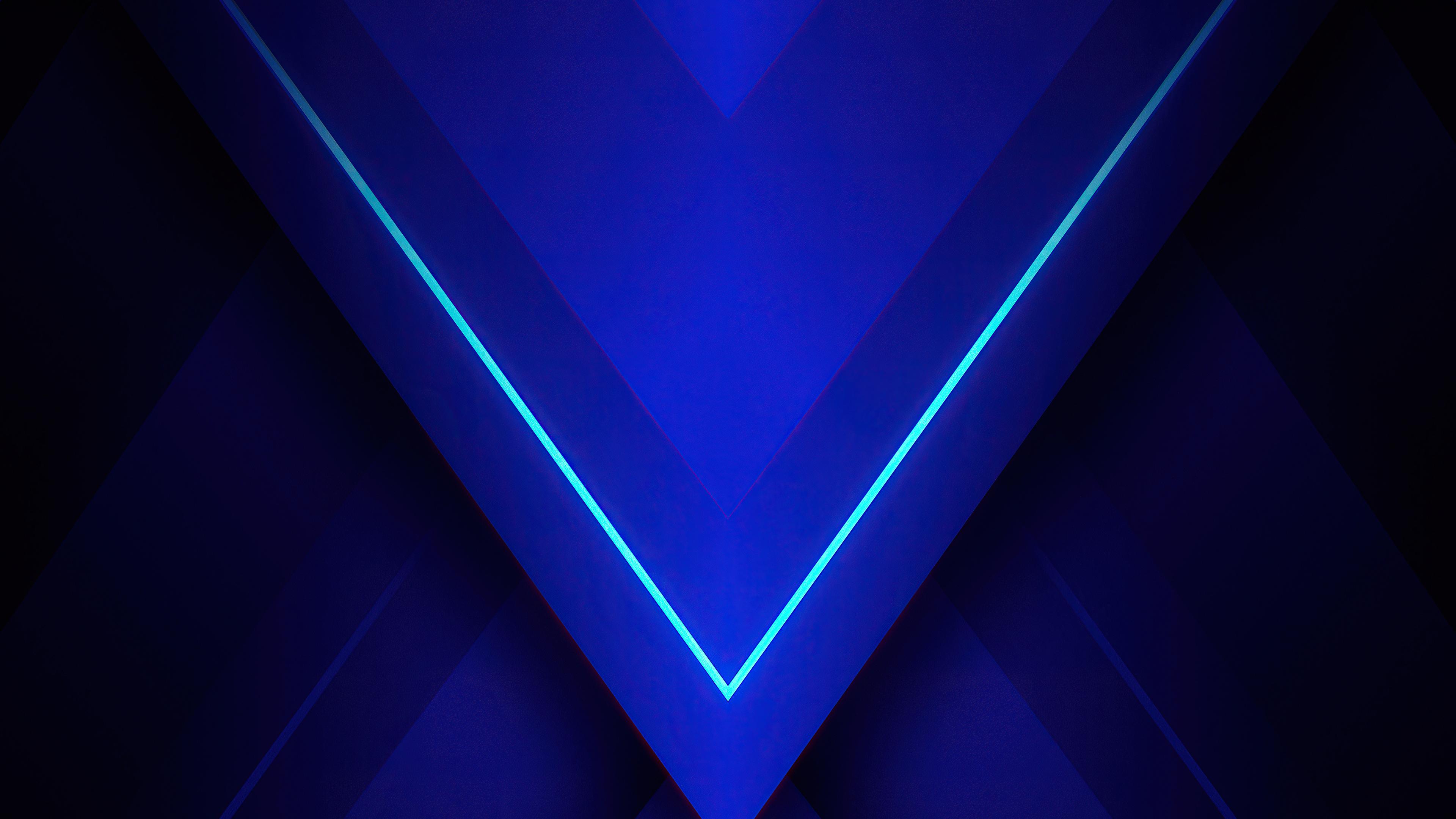 Tam giác xanh Trừu Tượng 4K