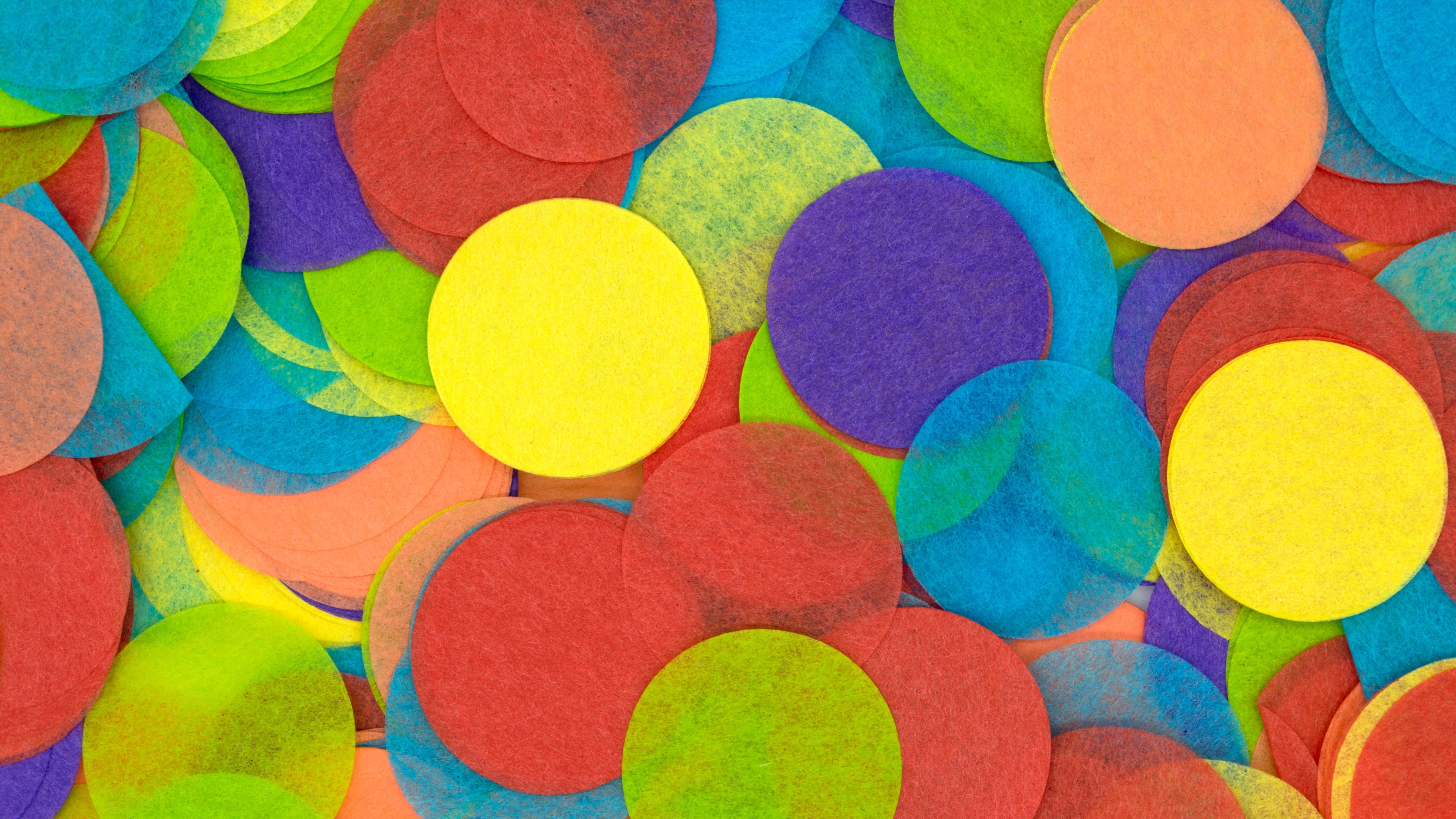 Hình nền những vòng tròn màu sắc Trừu Tượng 4K